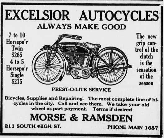 1913 excelsior autocycle