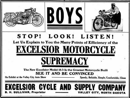 1917 excelsior advertisement