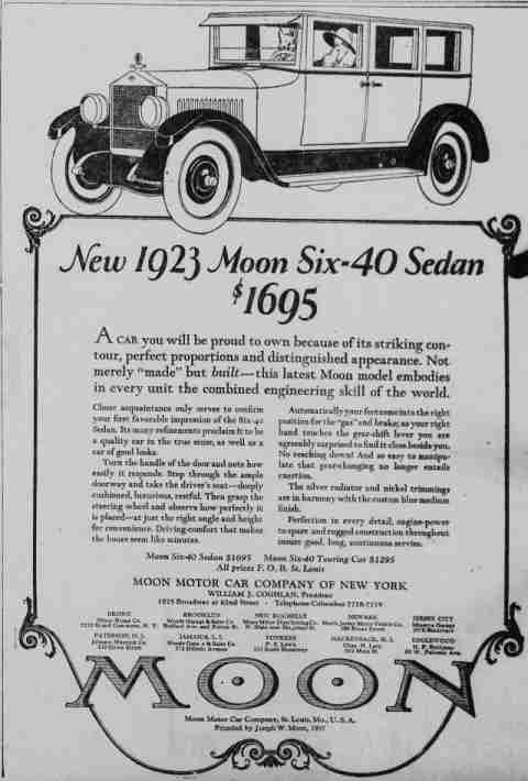 1923 moon automobile