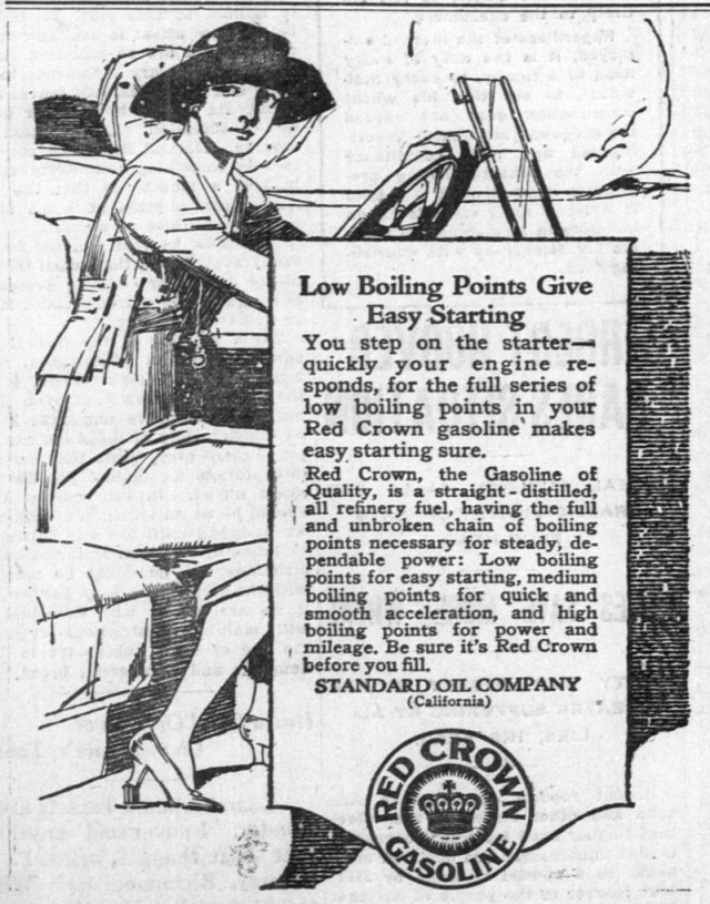1918 red crown gas ad