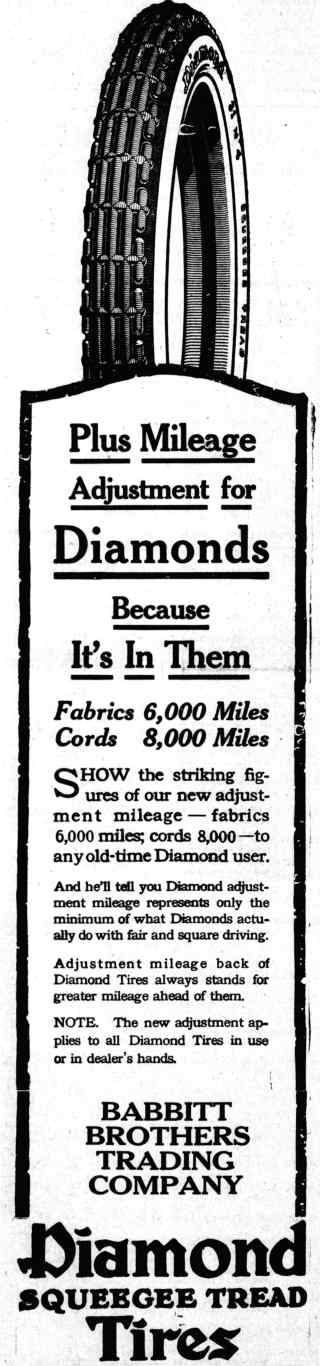 1919 diamond-tire ad
