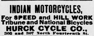 1904 indian motorcycle ad