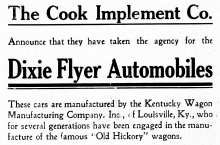 Dixie Flyer Automobile