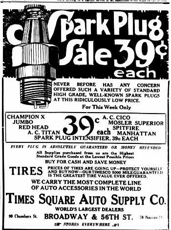 The First Spark Plugs