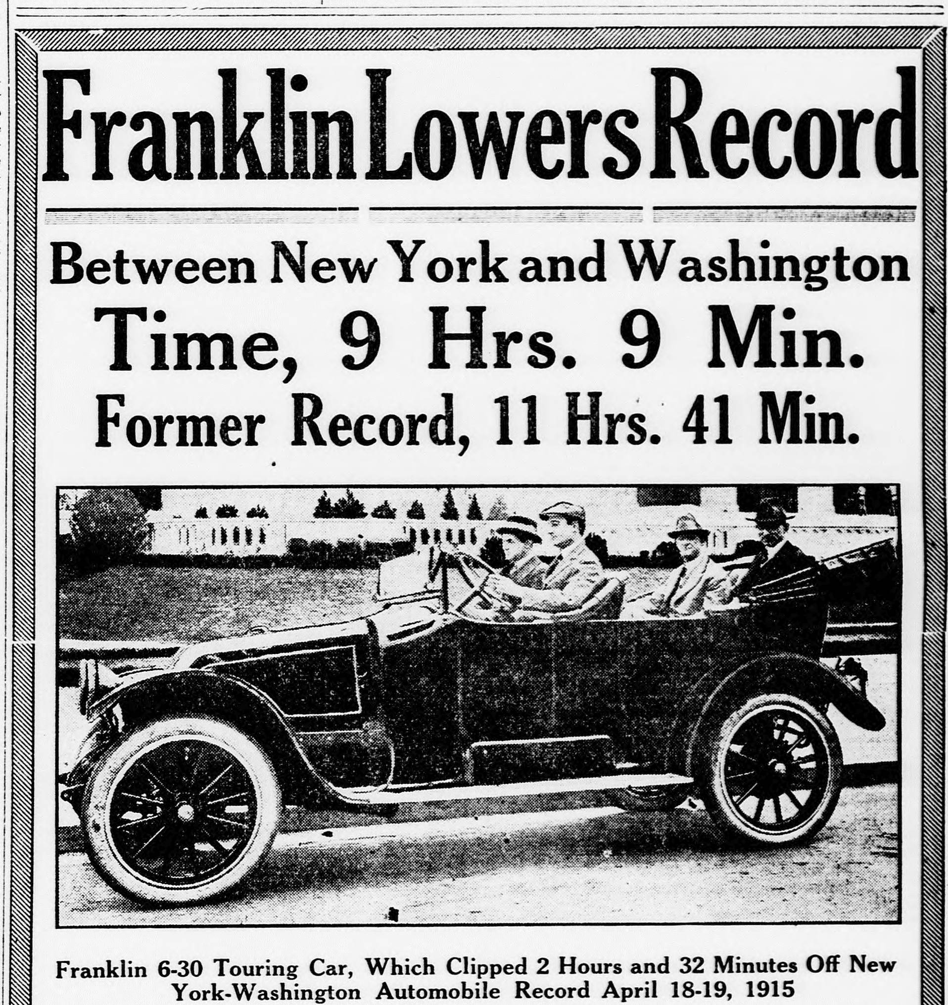 the franklin automobile early advertising old auto news