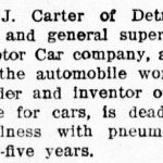 Carter Obituary - click for full image
