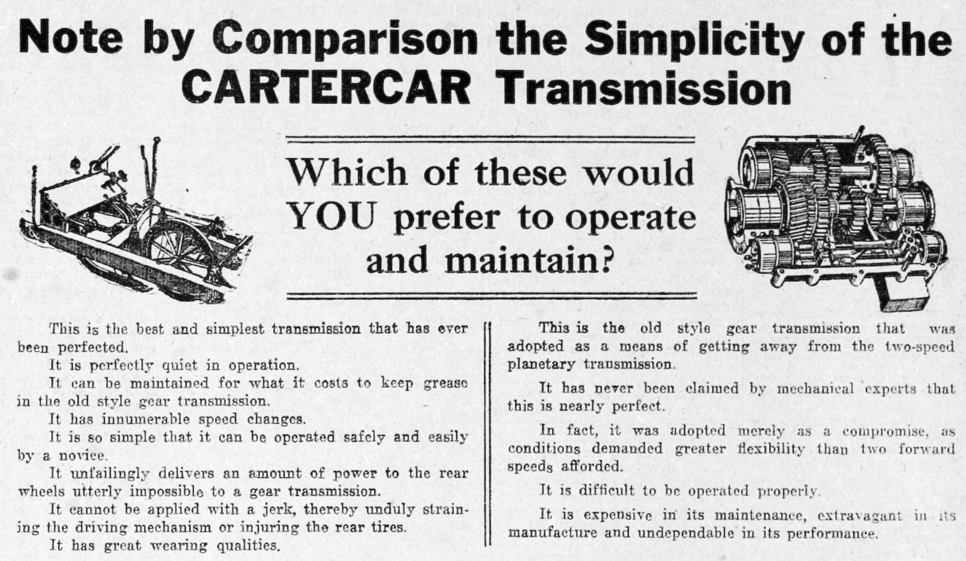 cartercar - the car ahead - read all about it